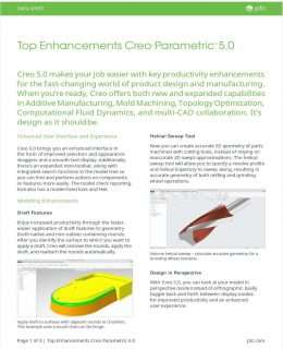 Top Enhancement in Creo Parametric 5.0