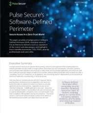 Pulse Secure's Software-Define Perimeter