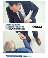 Defining Sales Success Factors in Today's Print Shops