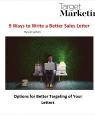 9 Ways to Write a Better Sales Letter