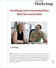 The Missing Link to Successful Direct Mail: The Creative Brief