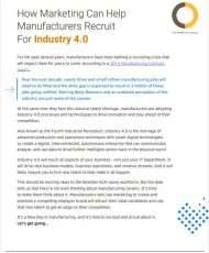 How Marketing Can Help Manufacturers Recruit For Industry 4.0