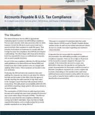 Accounts Payable & U.S. Tax Compliance