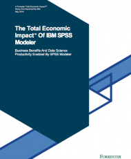Screen Shot 2019 02 05 at 7.46.26 PM 190x230 - Forrester Study: The Total Economic Impact™ Of IBM SPSS Modeler