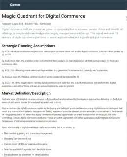 Magic Quadrant for Digital Commerce