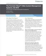The Forrester Wave™: Web Content Management Systems, Q4 2018