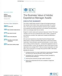 The Business Value of Adobe Experience Manager Assets