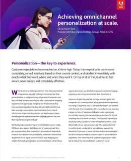 Achieving Omnichannel Personalization at Scale