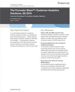 The Forrester Wave™: Customer Analytics Solutions