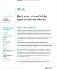 The Business Value of Adobe Experience Manager Forms