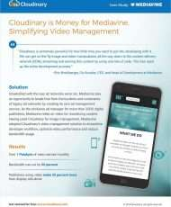 Cloudinary is Money for Mediavine, Simplifying Video Management