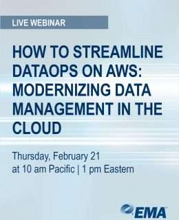 Live Webinar: How to Streamline DataOps on AWS: Modernizing Data Management in the Cloud