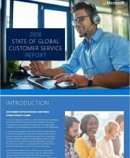 2018 State of Global Customer Service Report
