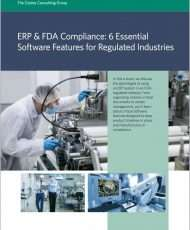 ERP & FDA Compliance: 6 Essential Software Features for Regulated Industries