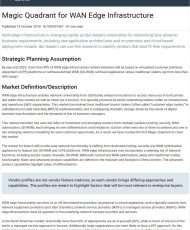 Gartner Magic Quadrant: WAN Edge Infrastructure
