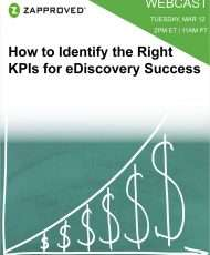 How to Identify the Right KPIs for eDiscovery Success