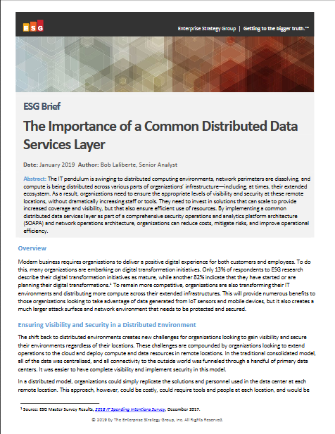 Screenshot 2019 03 26 ESG Research The Importance of a Common Distributed Data Services Layer esg research common distrib...1 - ESG Brief: The Importance of a Common Distributed Data Services Layer