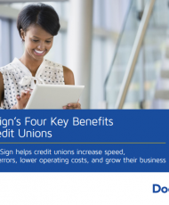 Untitled 190x230 - DocuSign's Four Key Benefits for Credit Unions