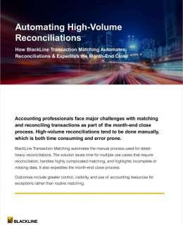 Automating High-Volume Reconciliations