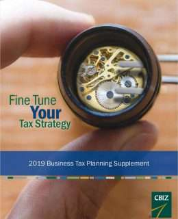 2019 BUSINESS TAX LAW UPDATE