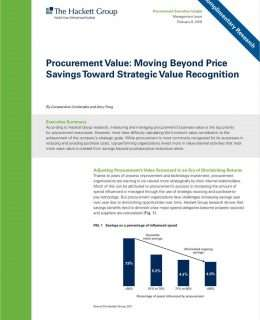 Procurement Value: Moving Beyond Price Savings Toward Strategic Value Recognition