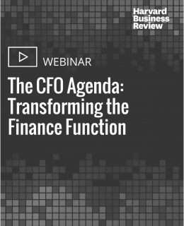 The CFO Agenda: Transforming the Finance Function