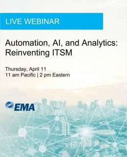 Live Webinar: Automation, AI, and Analytics: Reinventing ITSM