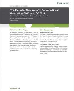 Forrester New Wave (TM): Conversational Computing Platform