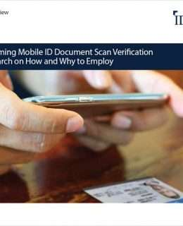 Mainstreaming Mobile ID Document Scan Verification
