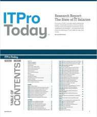 Research Report: The State of IT Salaries