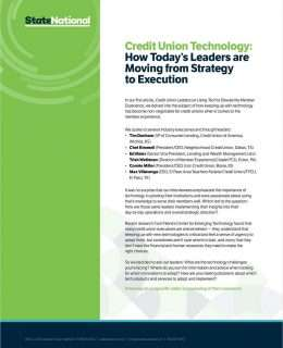Credit Union Technology: How Today's Leaders are Moving from Strategy to Execution