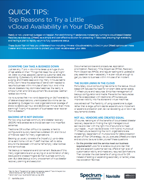 Screenshot 2019 04 12 QuickTips vCAv FINAL pdf - Top Reasons to Try a Little vCloud Availability in Your DRaaS