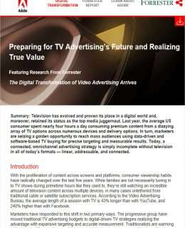 Preparing for TV Advertising's Future and Realizing True Value