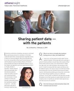 In the know: sharing patient data - with the patient