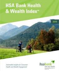 2019 HSA Bank Health & Wealth Index℠ Report