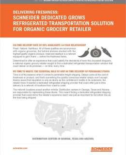 Dedicated Transportation Solution Grows with Organic Grocer