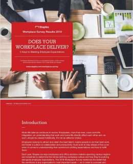 2019 Staples Workplace Survey Results