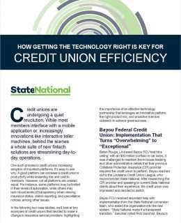 How Getting the Technology Right Is Key for Credit Union Efficiency