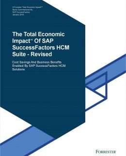 The Total Economic Impact of SAP SuccessFactors HCM Suite