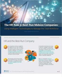 The HR Role in Best-Run Midsize Companies: Using Intelligent Technologies to Manage the Total Workforce