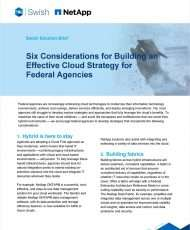 Six Considerations for Building an Effective Cloud Strategy for Federal Agencies