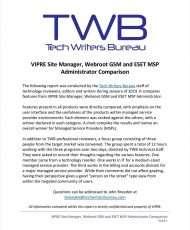 TWB EP Comparison for MSPs