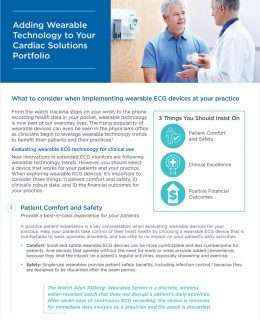 Adding Wearable Technology to A Cardiac Solutions Portfolio