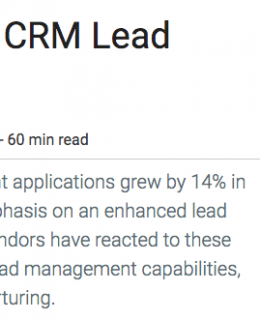 Screen Shot 2019 05 31 at 12.16.51 AM 260x320 - Gartner report Magic Quadrant for CRM Lead Management