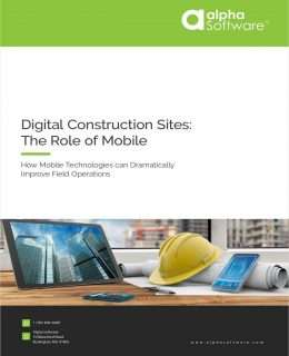 Digital Construction Sites: The Role of Mobile Apps