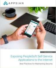 Securely Expanding Access to PeopleSoft Self-Service Applications
