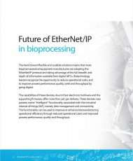 Achieving a Competitive Advantage in the Science and Business of Biotech with EtherNet/IP Enabled MFCs