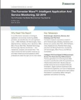 The Forrester Wave™: Intelligent Application And Service Monitoring, Q2 2019