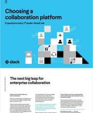 8 questions every IT leader should ask when choosing a collaboration platform