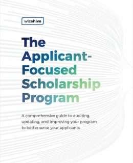 The Applicant-Focused Scholarship Program